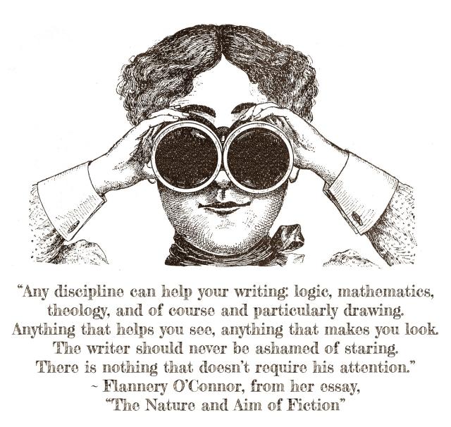 binocularslady_FlanneryOConnorquote